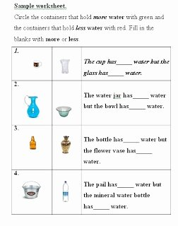 Measuring Liquid Volume Worksheet Fresh Water Volume Measurement Liquid Volume Measurement