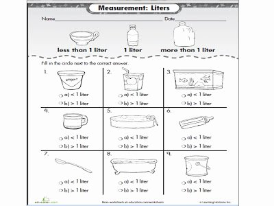 Measuring Liquid Volume Worksheet Luxury Teaching Aids and Activities for Volume Liquid Year Two