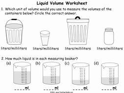 Measuring Liquid Volume Worksheet New Measuring Liquid Volume Using Standard Units Powerpoint