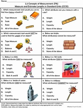 Measuring Units Worksheet Answer Key Awesome Measurement tools and attributes Measured by A Kreative