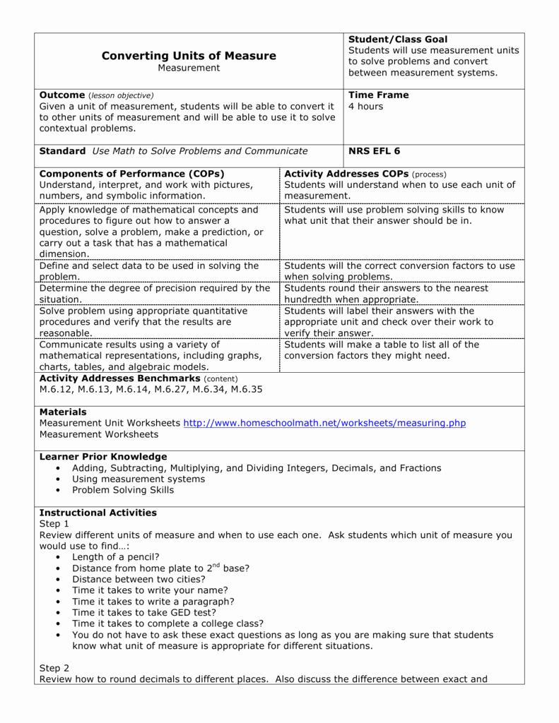 Measuring Units Worksheet Answer Key Beautiful Worksheet Converting Units Measurement Worksheets