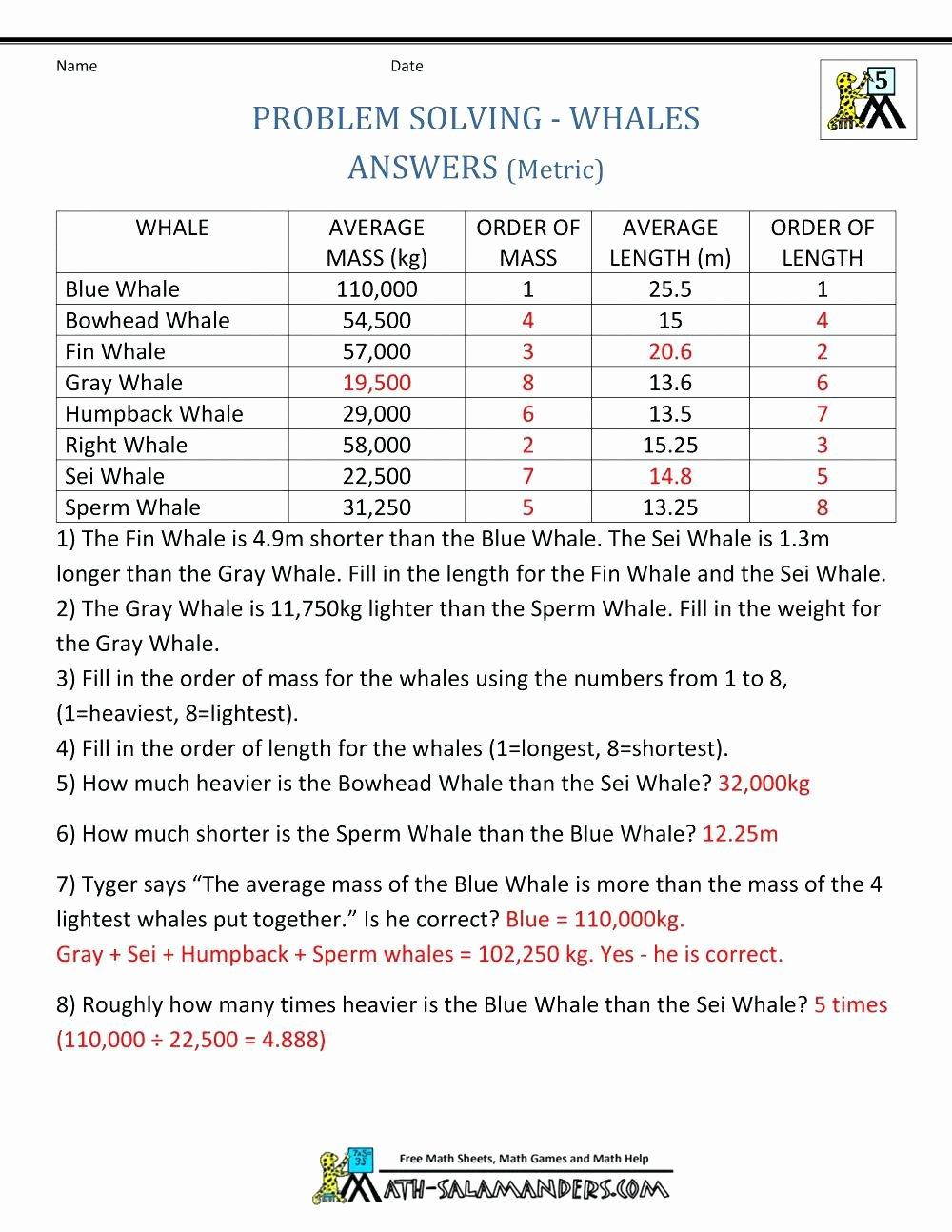Measuring Units Worksheet Answer Key Elegant Metric Units Measurement Worksheet