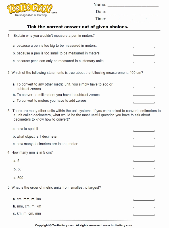 50 Measuring Units Worksheet Answer Key | Chessmuseum ...
