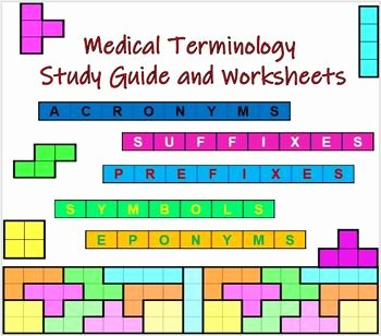 Medical Terminology Prefixes Worksheet Inspirational Medical Terminology Study Guide and Worksheets by