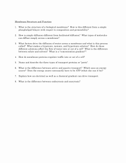 Membrane Structure and Function Worksheet Beautiful Cell Membrane Coloring Worksheet