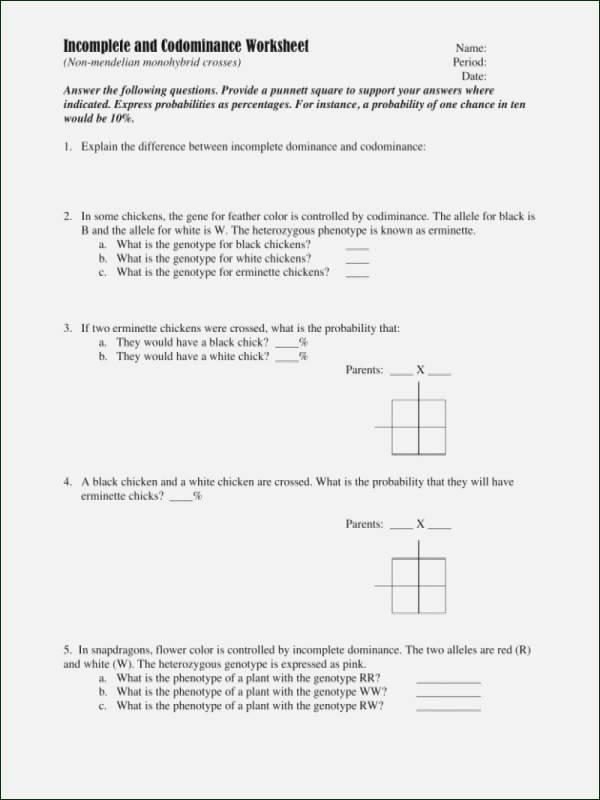 Mendelian Genetics Worksheet Answer Key Awesome Mendelian Genetics Worksheet