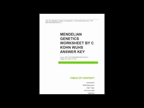 Mendelian Genetics Worksheet Answer Key Beautiful Mendelian Genetics Worksheet
