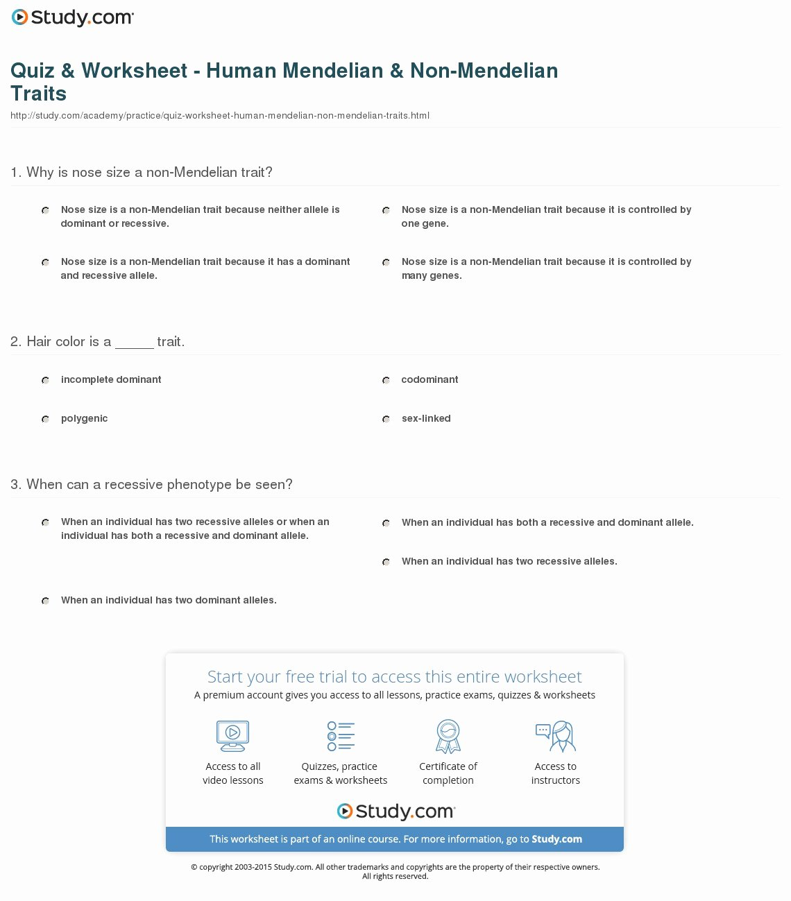 Mendelian Genetics Worksheet Answers Elegant Mendelian Genetics Worksheet Answer Key