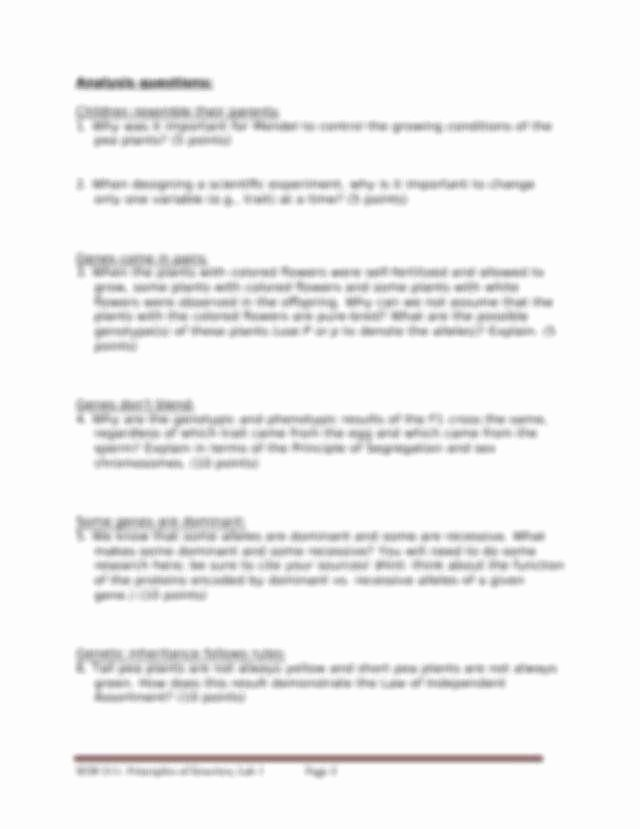Mendelian Genetics Worksheet Answers Elegant Mendelian Genetics Worksheet