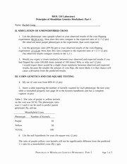 Mendelian Genetics Worksheet Answers Inspirational Mendelian Genetics Study Resources
