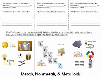 Metals Nonmetals and Metalloids Worksheet Awesome Metals Nonmetals Metalloids Foldable Worksheet for