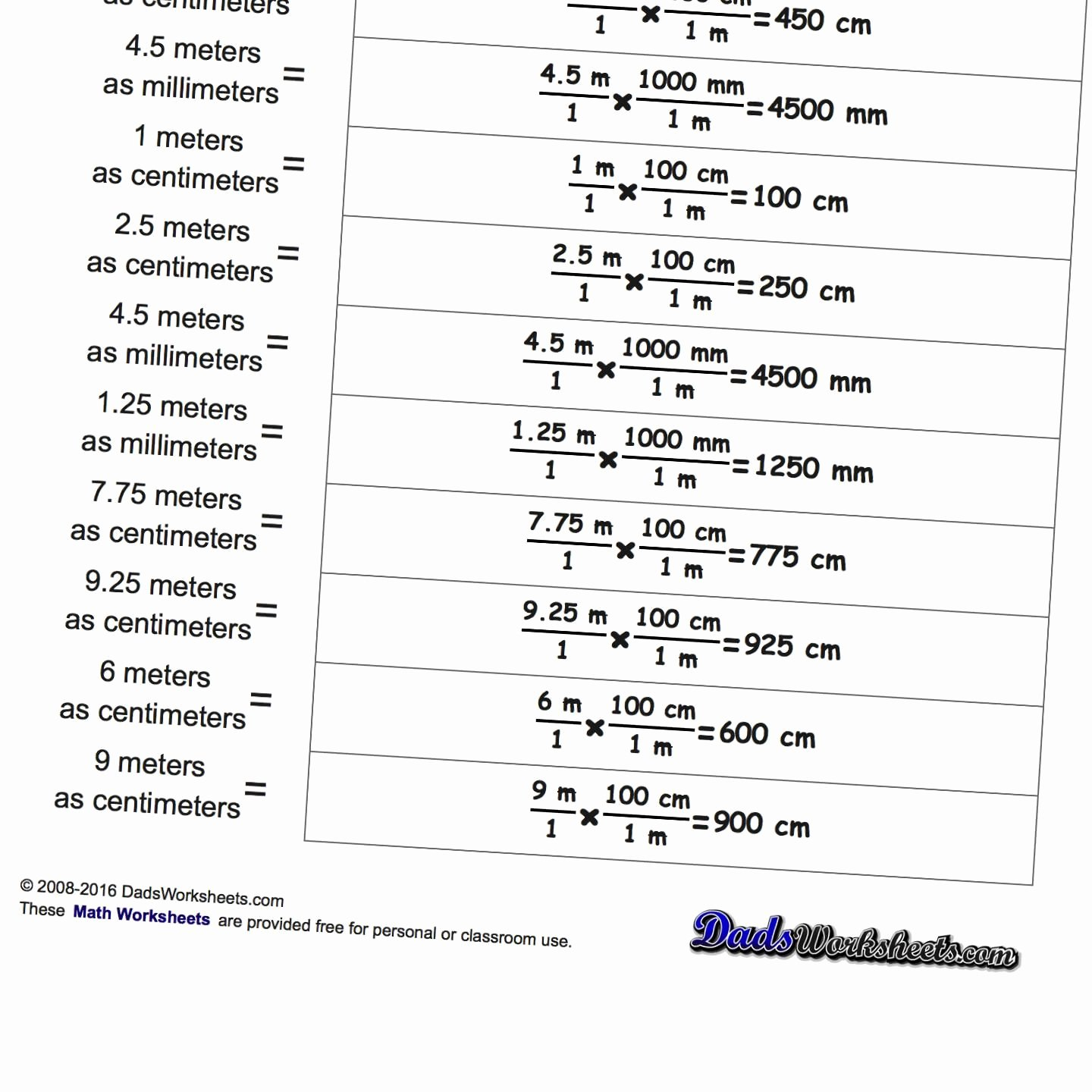 Metric Conversion Worksheet Answer Key Awesome Metric Si Unit Conversions This Page Contains Links to