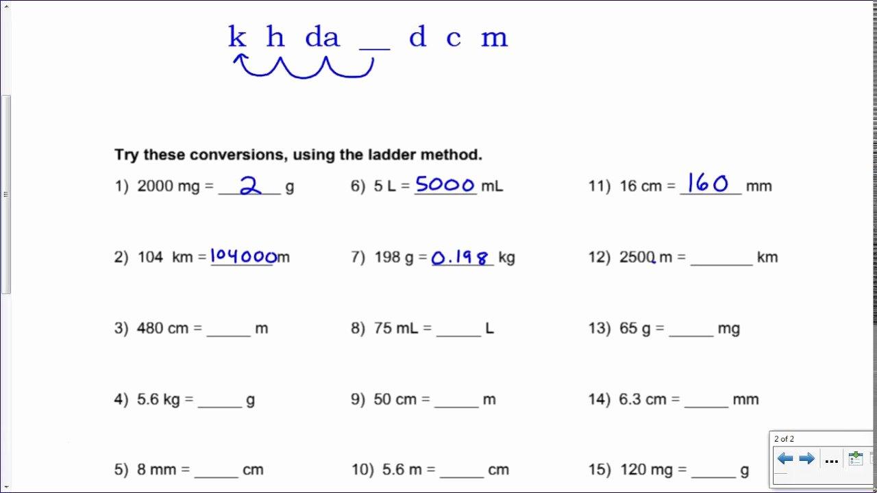 Metric Mania Worksheet Answers Fresh Metric Mania Conversion Practice Key