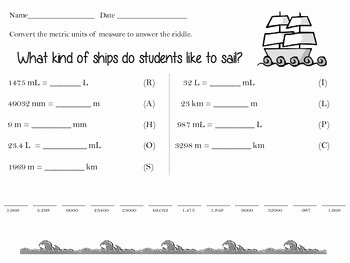 Metric Mania Worksheet Answers New Metric Conversions Practice Riddle by Denise Bryant