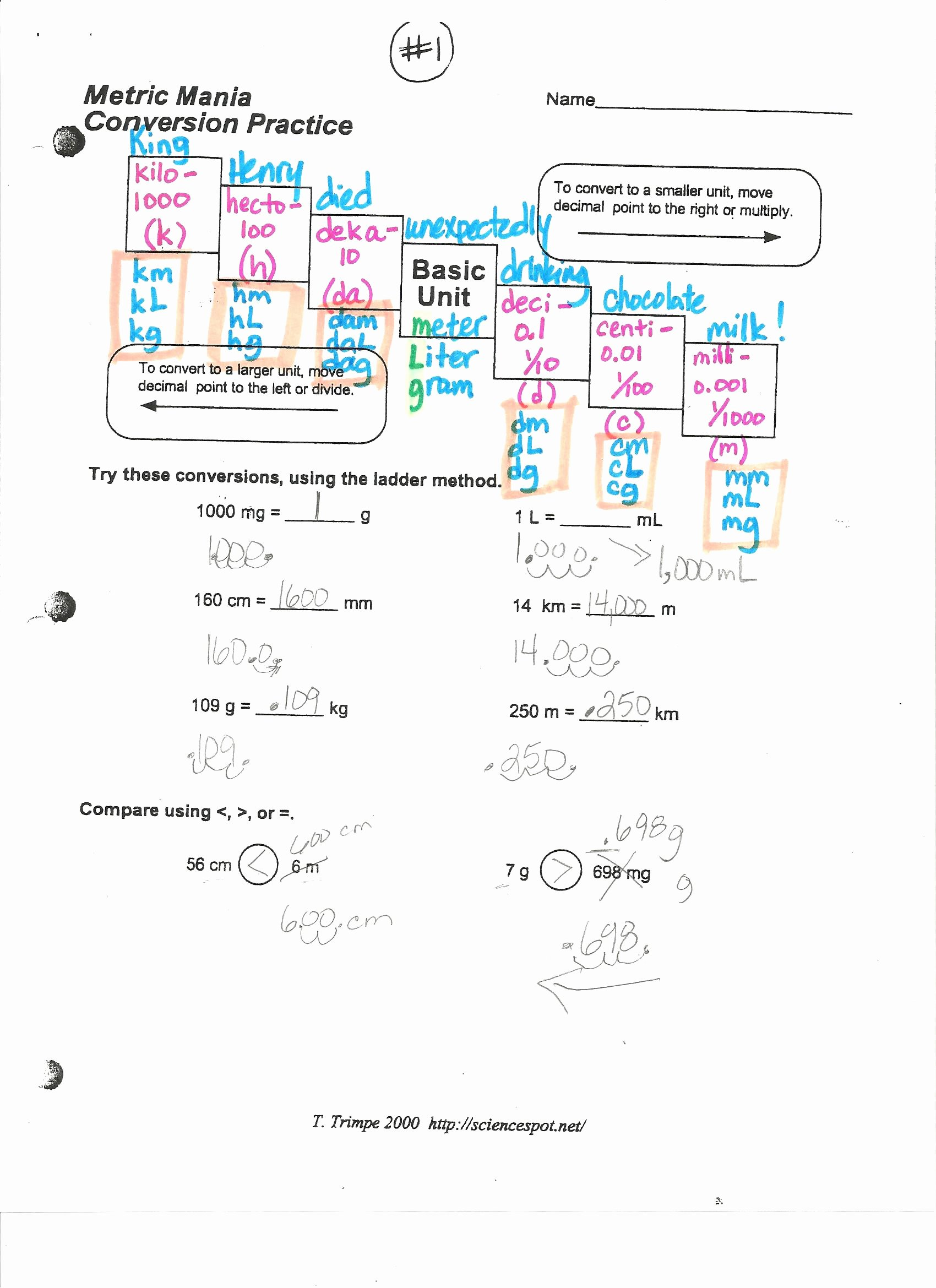 Metric Mania Worksheet Answers New September 2014 Mrs Brown S Blog