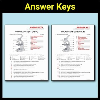 Microscope Parts and Use Worksheet Inspirational Microscope Parts Quiz Editable by Tangstar Science