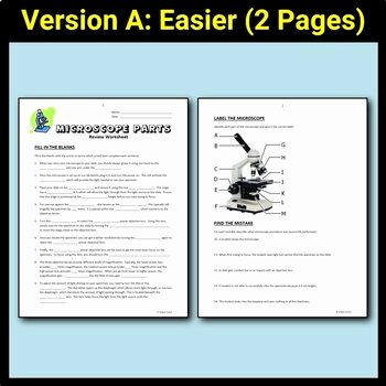 Microscope Parts and Use Worksheet New Microscope Parts Review Worksheet Editable by Tangstar