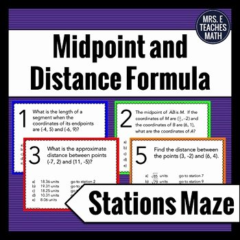Midpoint and Distance formula Worksheet Fresh How I Teach the Midpoint and Distance Fomula