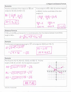 Midpoint and Distance formula Worksheet Lovely Midpoint and Distance formulas Lesson by Mrs E Teaches