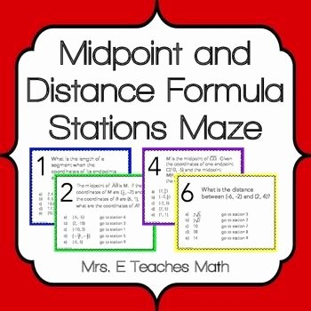 Midpoint and Distance formula Worksheet Luxury Activity Worksheet Distance and Midpoint Exploration Kid