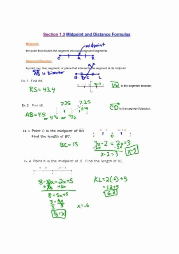 Midpoint and Distance Worksheet Best Of Distance and Midpoint