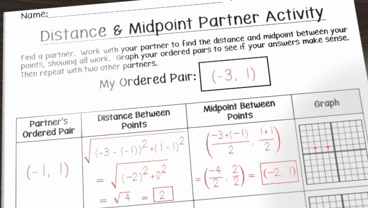 Midpoint and Distance Worksheet Best Of Having Fun with Distance and Midpoint