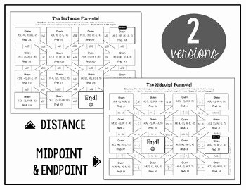 Midpoint and Distance Worksheet Inspirational Distance formula and Midpoint formula Mazes by All Things