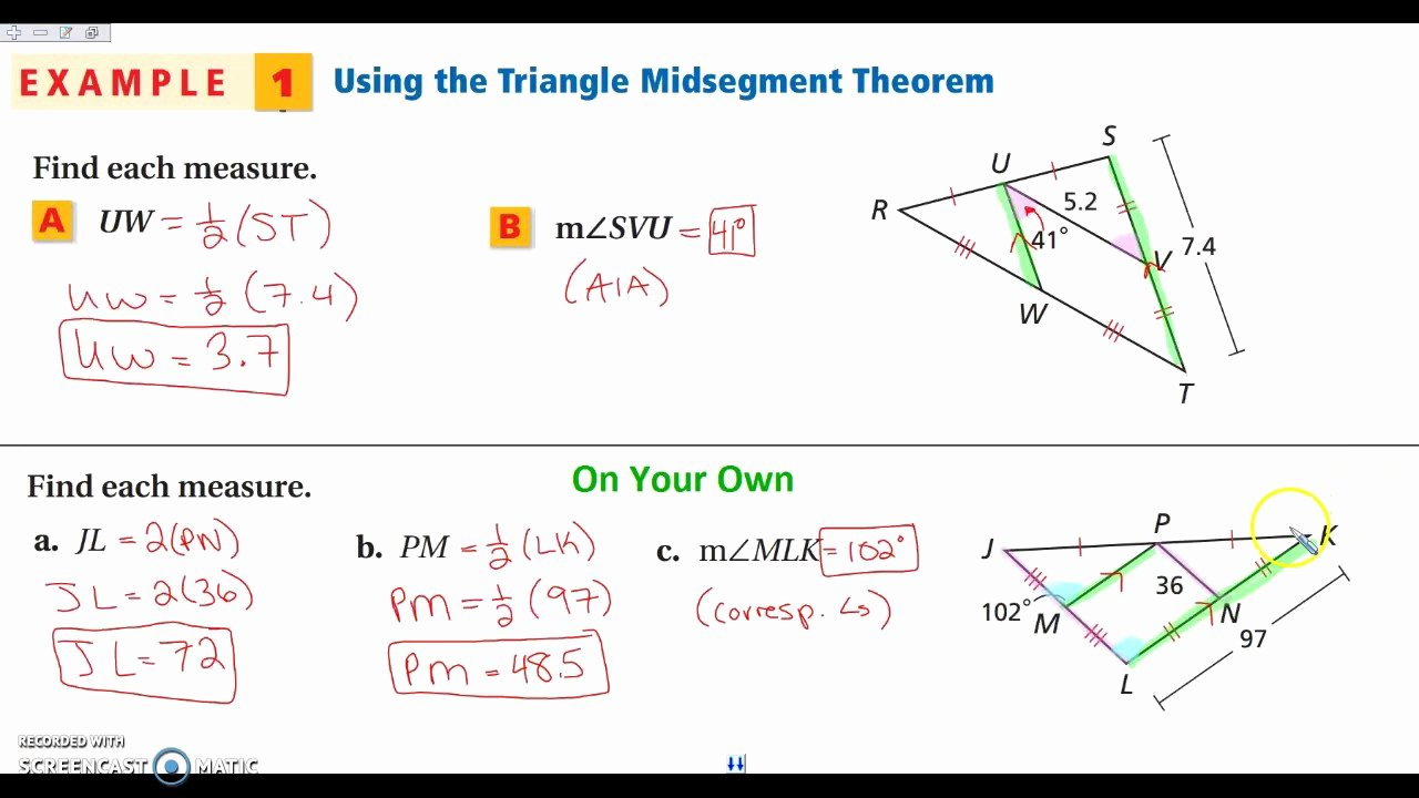 Midsegment Of A Triangle Worksheet Elegant Midsegment A Triangle Worksheet