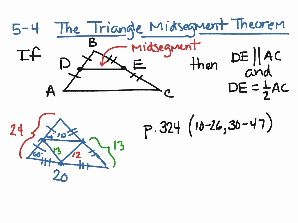 Midsegment Of A Triangle Worksheet Inspirational Midsegment theorem Worksheet Answers