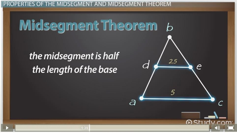 Midsegment Of A Triangle Worksheet Lovely Midsegment theorem & formula Video & Lesson Transcript