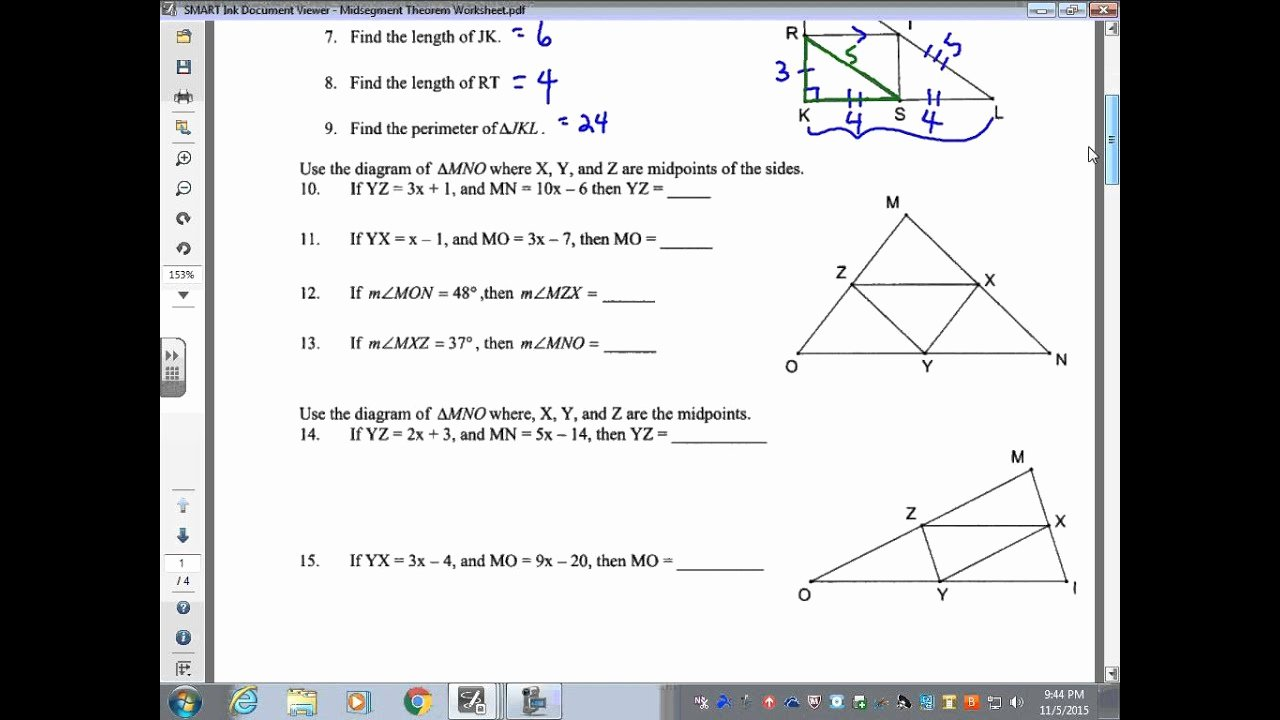 Midsegment Of A Triangle Worksheet Lovely Midsegment Triangle Worksheet