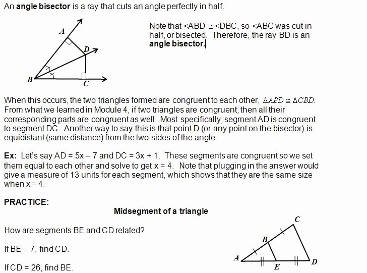 Midsegment Of A Triangle Worksheet New Cosgeometry Lesson 5 01 Triangle Midsegment theorem