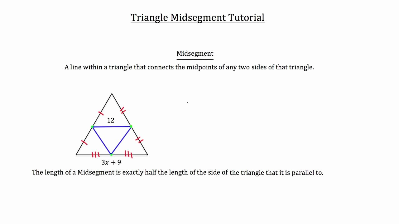 Midsegment Of A Triangle Worksheet New Triangle Midsegment theorem