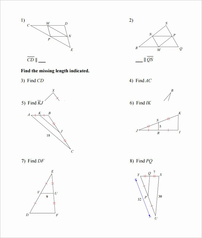 Midsegment Of A Triangle Worksheet Unique 16 Sample High School Geometry Worksheet Templates