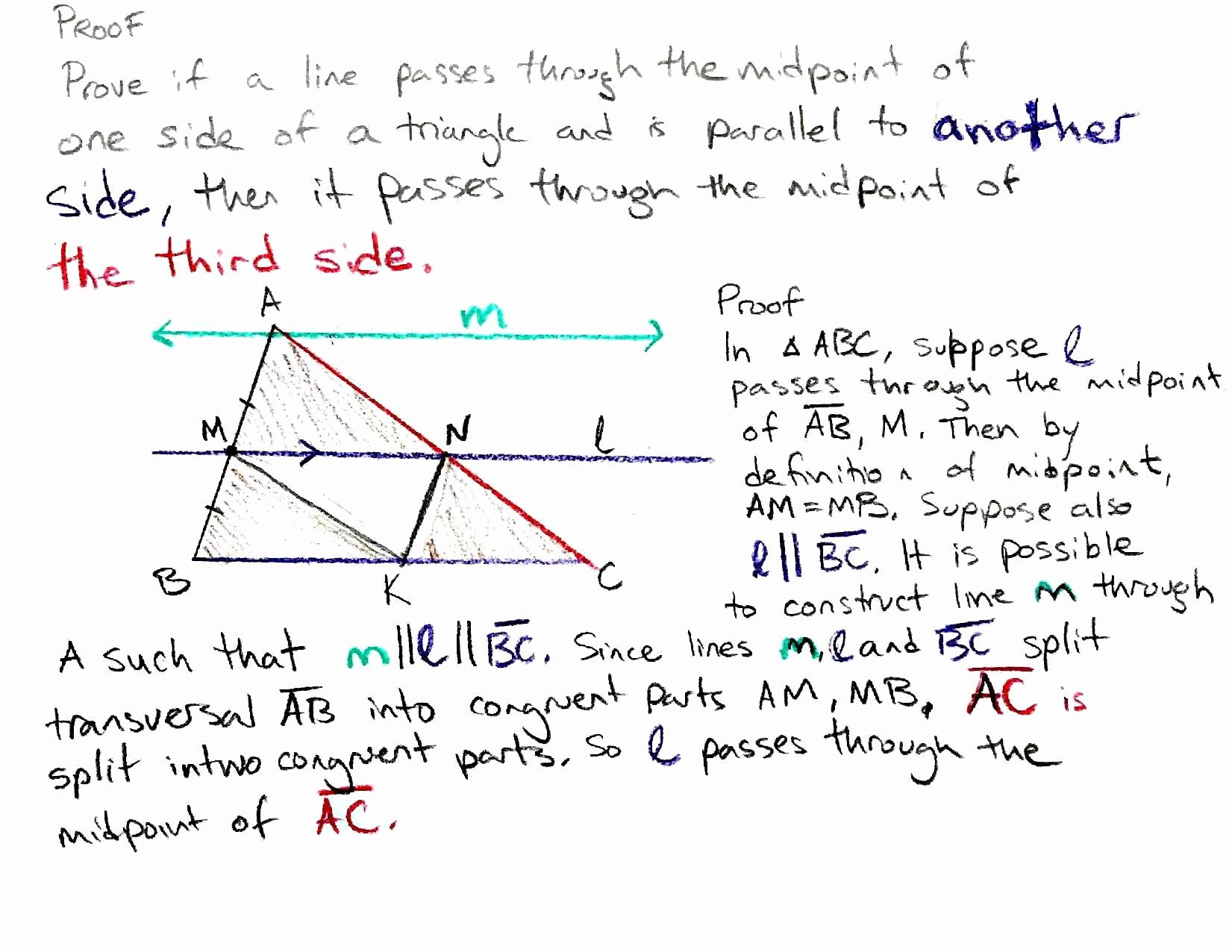 Midsegment Of A Triangle Worksheet Unique 3 4 Proving the Triangle Midsegment theorem Mr Nockles