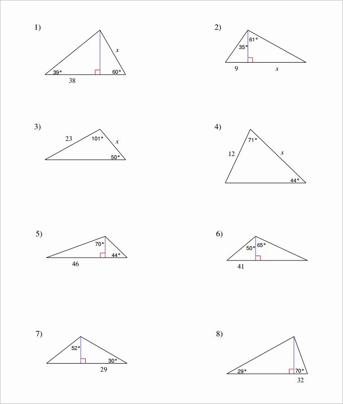 Midsegment theorem Worksheet Answer Key Awesome 16 Sample High School Geometry Worksheet Templates