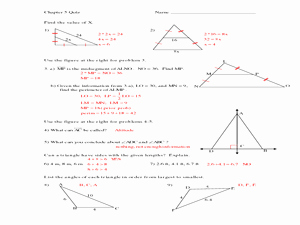 Midsegment theorem Worksheet Answer Key Awesome Midsegment Of A Triangle Lesson Plans & Worksheets