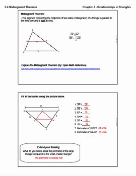 Midsegment theorem Worksheet Answer Key Beautiful Midsegment theorem Lesson with Homework by ashley