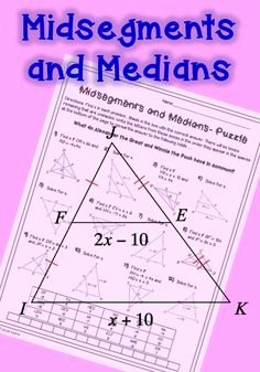 Midsegment theorem Worksheet Answer Key Elegant Angle Bisectors Worksheets Teaching Math