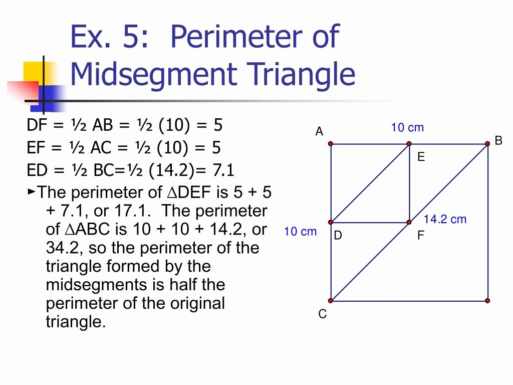Midsegment theorem Worksheet Answer Key Elegant Midsegment Triangle Worksheet