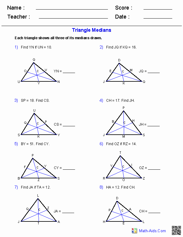 Midsegment theorem Worksheet Answer Key Fresh Geometry Worksheets