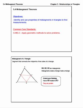 Midsegment theorem Worksheet Answer Key Fresh Midsegment theorem Lesson with Homework by ashley