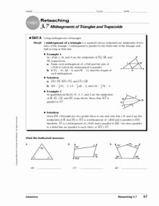 Midsegment theorem Worksheet Answer Key Luxury Midsegments Of Triangles and Trapezoids Worksheet for 10th