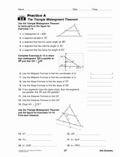 Midsegment theorem Worksheet Answer Key Luxury the Triangle Midsegment theorem Worksheet for 10th Grade
