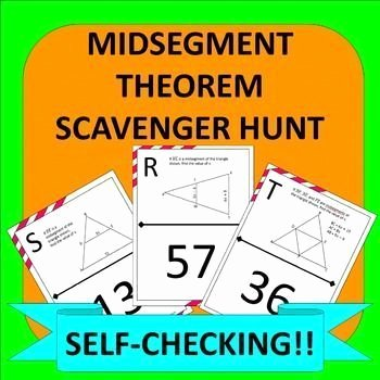 Midsegment theorem Worksheet Answer Key New Midsegment theorem In Triangles Scavenger Hunt Activity