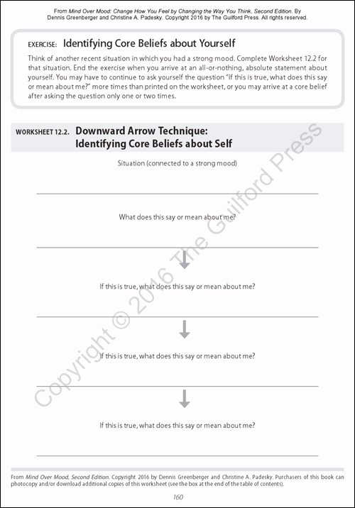 Mind Over Mood Worksheet Fresh Mind Over Mood Second Edition Change How You Feel by