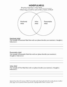 Mind Over Mood Worksheet Luxury Dbt Diary Card for Practicing Dialectical Behavioral
