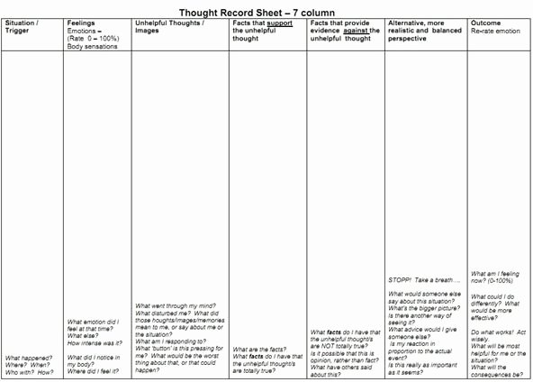 Mind Over Mood Worksheet New Mental Health Monday thought Record & Reframing Negative