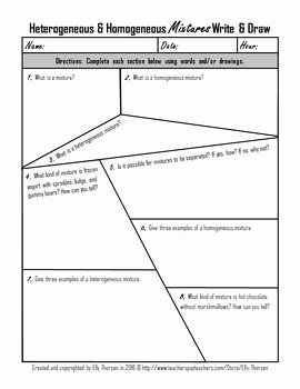 Mixture Word Problems Worksheet Awesome Heterogeneous and Homogeneous Mixtures Worksheet Id 17