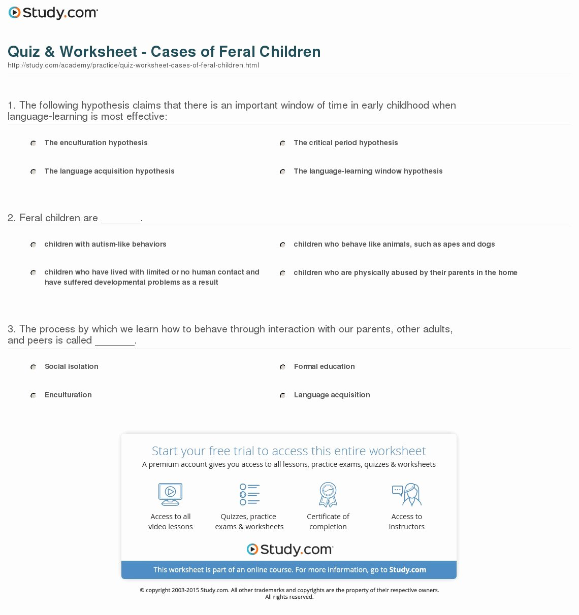 Mixture Word Problems Worksheet Best Of Quiz & Worksheet Cases Of Feral Children